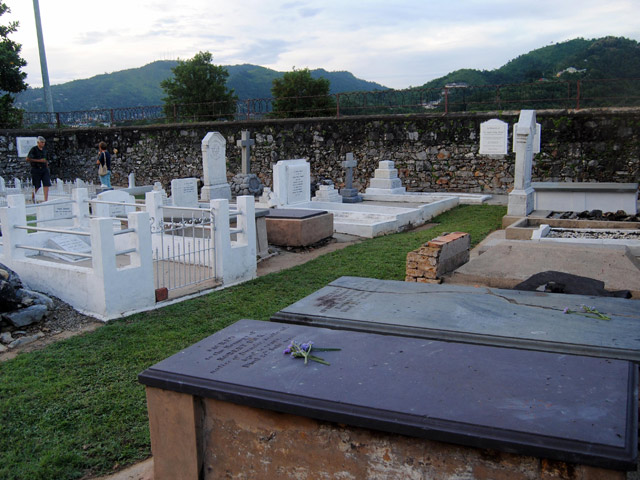 Inside the Peschier Cemetery