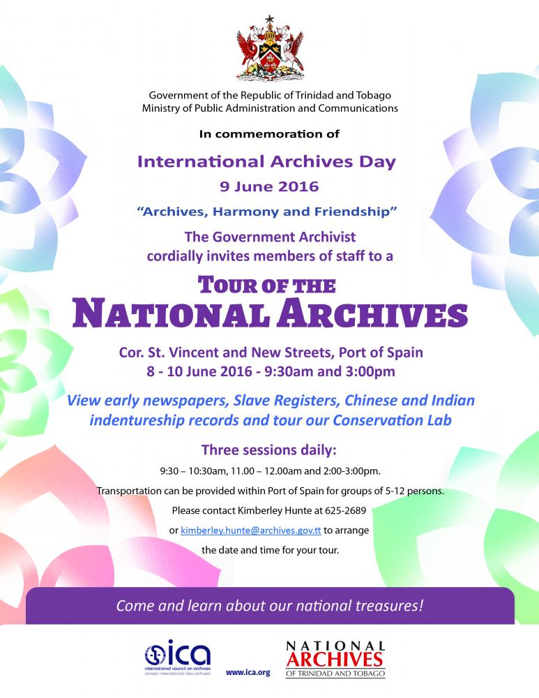 International Archives Day flyer